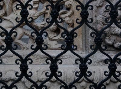 željezo, ukras, starinski, plijesni, arhitektura, uzorak, željezo