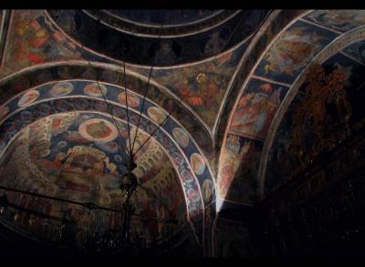 arte, fresco, religión, bizantino, ortodoxa, diseño, interior, iglesia, arquitectura, mosaico