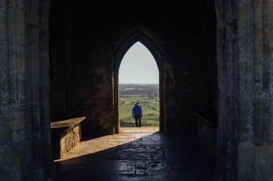 dark, shadow, architecture, arch, structure, castle, arch, Gothic, ancient, doorway