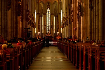 church, indoors, religion, cathedral, inside, bench, choir, architecture
