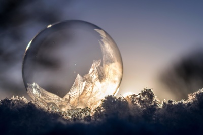 νιφάδα χιονιού, παγετού, ψυχρού, πάγο, ουρανό, ατμόσφαιρα, ήλιος