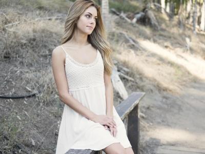 Природа, женщины, лето, красивая девушка, платье, привлекательная(ый)
