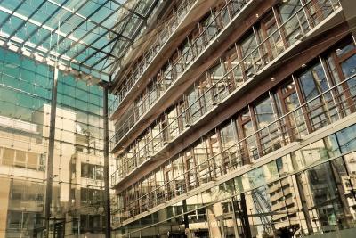 arquitectura, ciudad, ventana, urbano, moderno, de acero, edificio, exterior
