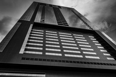 architecture, window, city, modern, monochrome, exterior