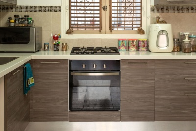 stove, kitchen, oven, refrigerator, contemporary, inside, room, indoors