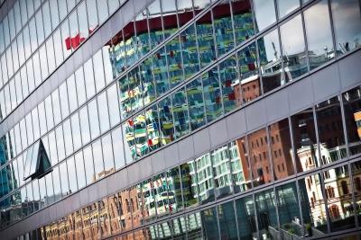 Architektur, Modern, Stadt, Fenster, urban, außen, Bau