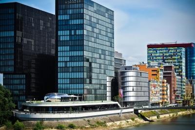 city, architecture, modern, downtown, cityscape, urban, sky, facade