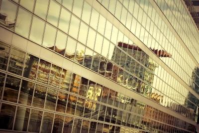 architecture, city, window, urban, modern, reflection, glass