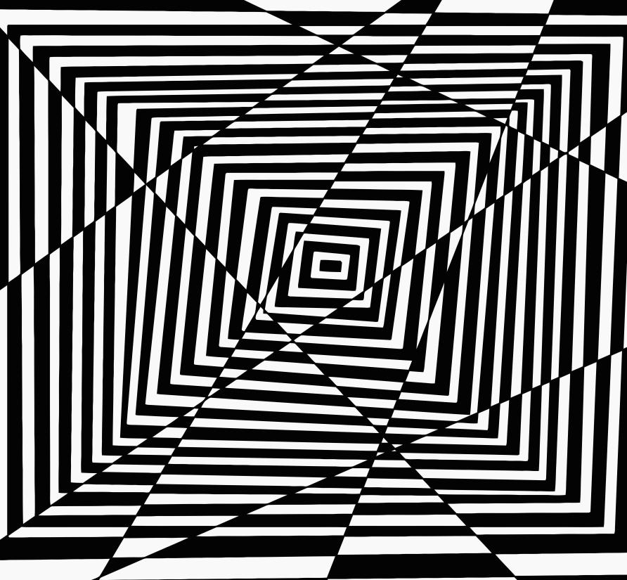design, pattern, illusion, illustration, shape, art, graphic, monochrome