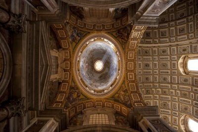 church, architecture, dome, inside, indoors, old, religion, cathedral, art, arch