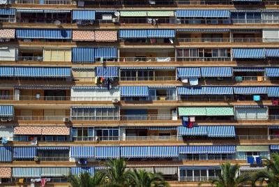 arquitectura moderna, ventana, contemporáneo, construcción, apartamento, fachada