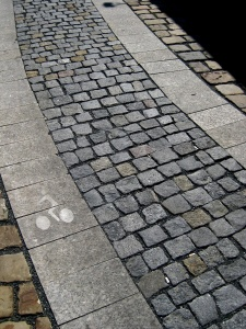 pavement, stone, cobblestone, avenue, old, road, pattern, brick, cube