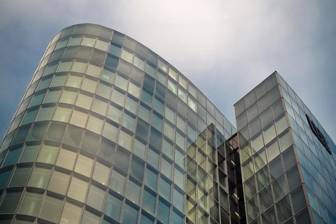 arquitectura, ciudad, centro, moderno, cielo, futurista, urbana, ventana