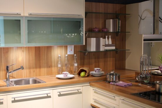 stove, furniture, indoors, room, cabinet, counter, contemporary, refrigerator