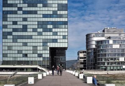 architecture, city, modern, reflection, sky, urban, downtown, street