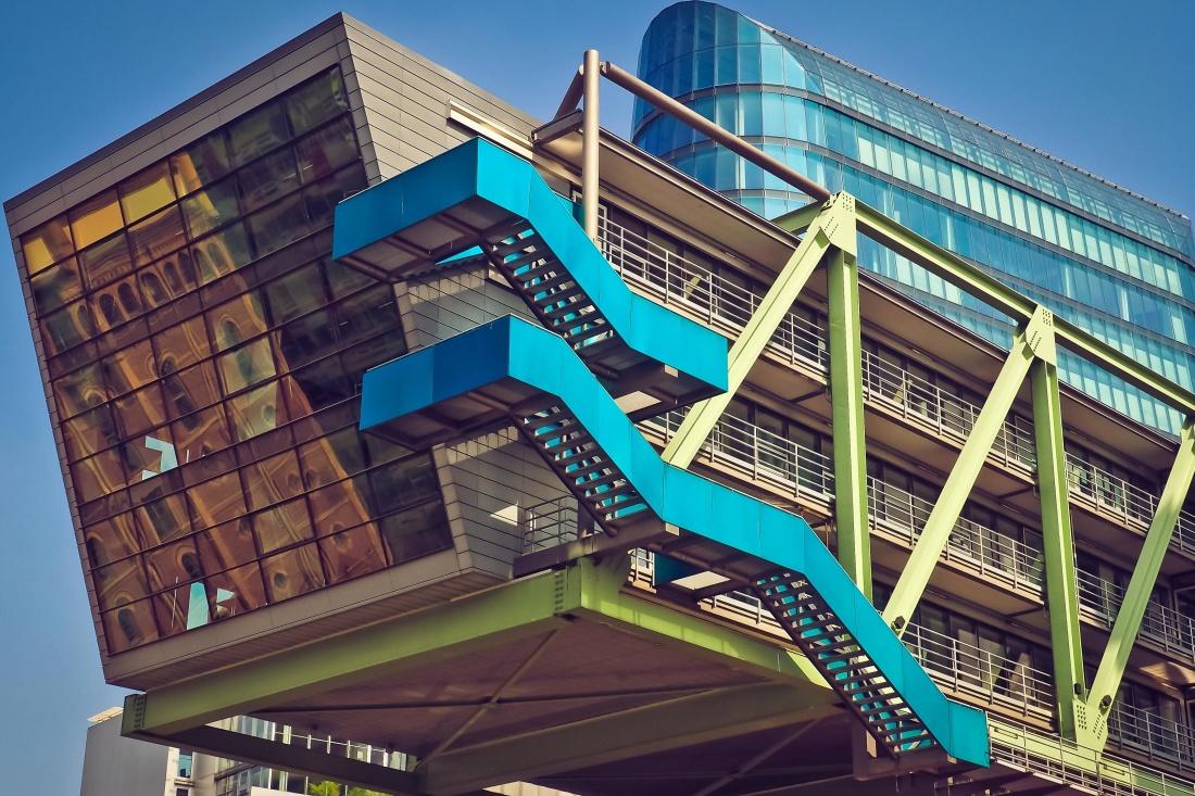 arquitectura, moderna, cielo, contemporáneo, exterior, ventana, centro, ciudad