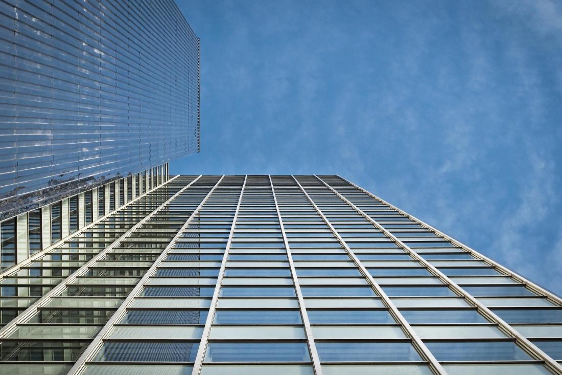 arquitectura, ventana, cielo, moderno, futurista, de acero, exterior