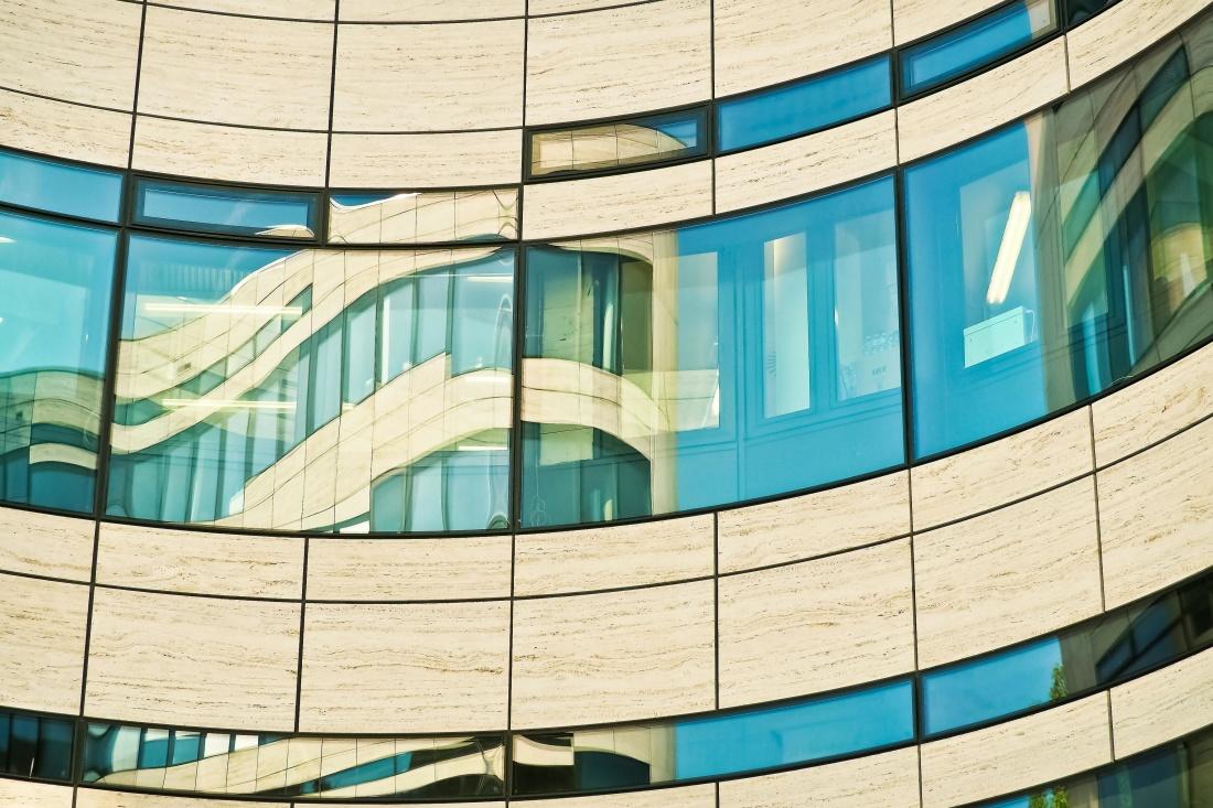 moderno, edificio, ventana, futuristic, geometric, perspectiva contemporánea, arquitectura,