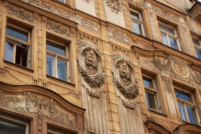 arquitectura, ventana, fachada, barroco, casa, ciudad, fachada, exterior