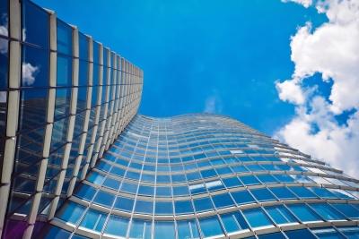Architektur, modern, futuristisch, Himmel, Fassade, Gebäude, Wolke, modern