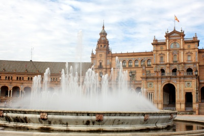 fountain, architecture, water, famous, city, landmark, river, exterior