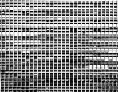 construcción, diseño, balcón, acero, exterior, centro de la ciudad