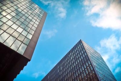 arhitekture, grad, futuristički, moderni, nebo, prozor, u centru grada, urbane