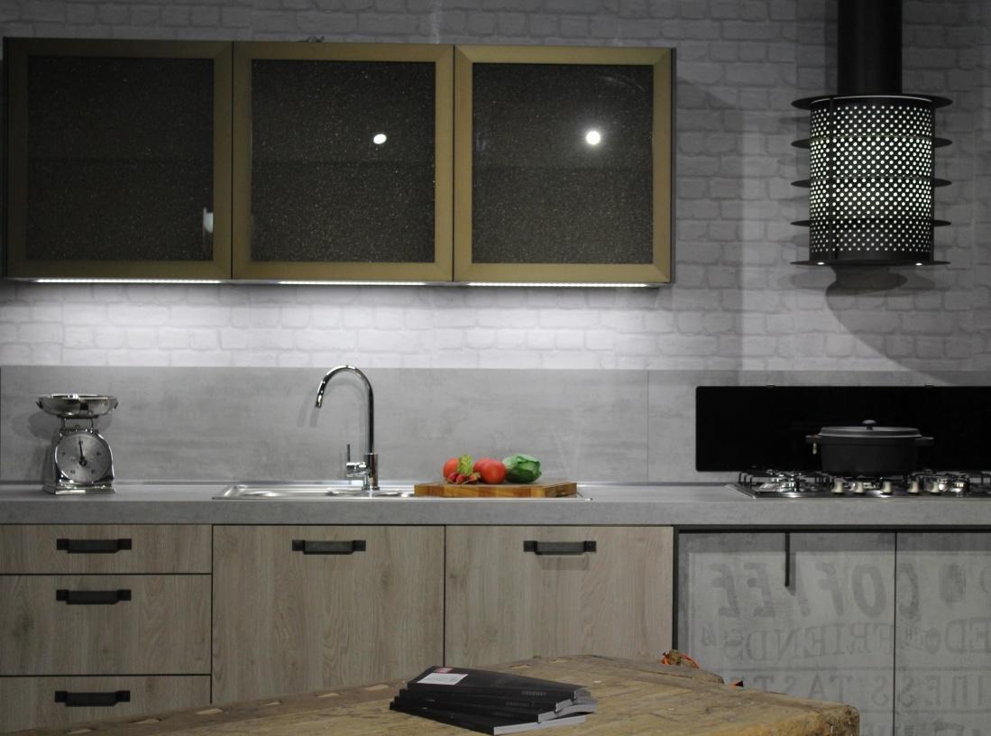 sobi, u kući, slavina, štednjak, namještaj, suvremena, pećnica, kuća, ormar