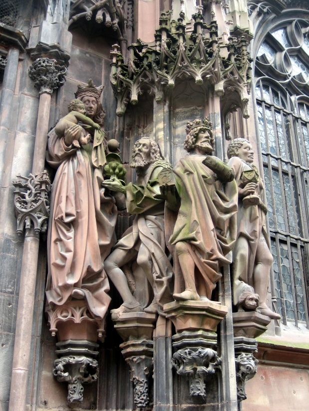 Photography Statue Monument Gothic Religion Sky Skies: Free Picture: Architecture, Sculpture, Church, Gothic