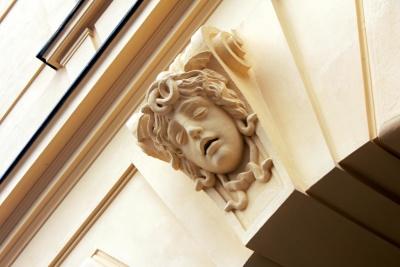 Dekoration, Exterieur, Architektur, Design, Skulptur, Statue, Wand