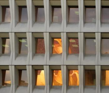 ventana, fachada, arquitectura, contemporáneo, moderno