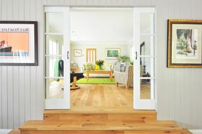 nábytek, uvnitř, místnost, moderní, dům, okna, interiér, domov