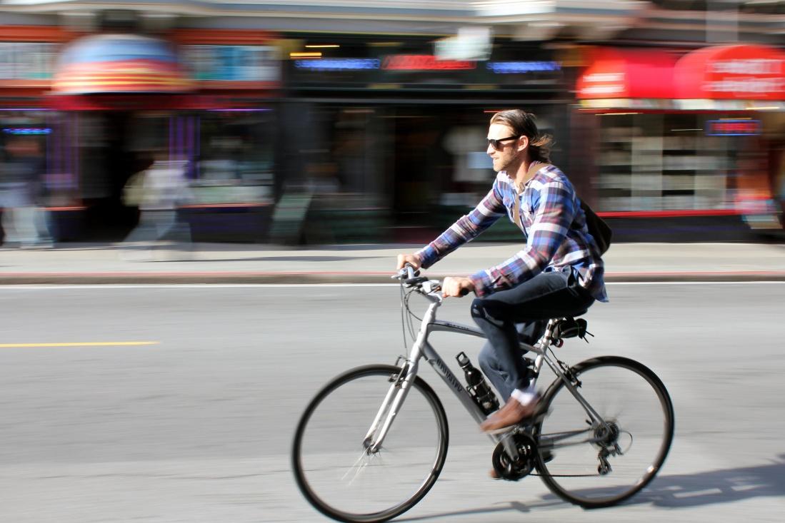 route, rue, roue, homme, ville, route, ville, vélos