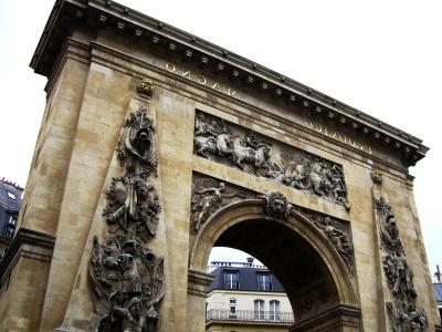 Architektur, Stadt, alte, Denkmal, Himmel, Bogen, Denkmal, Tor, Straße