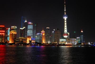 grad, arhitektura, Panorama grada, sumrak, vode, noći, u centru grada