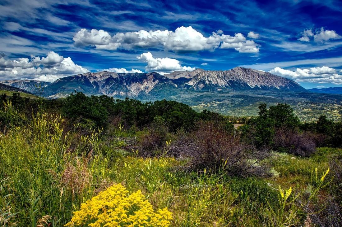 landscape, mountain, sky, nature, cloud, grass, summer, valley