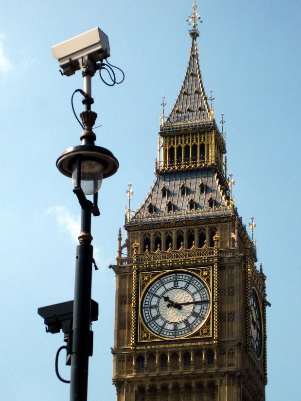 hodiny, architektúra, staré, veže, nebo, Londýn, medzník