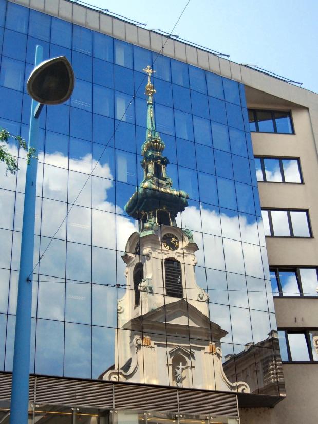architecture, ciel, ville, verre, réflexion, extérieur, centre-ville, façade, balcon
