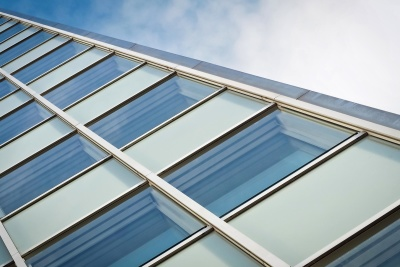 window, technology, sky, exterior, facade, blue sky, futuristic, architecture