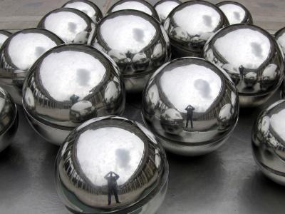 Monochrom, Form, Kugel, Reflexion, Metall, Kunst, Dekoration