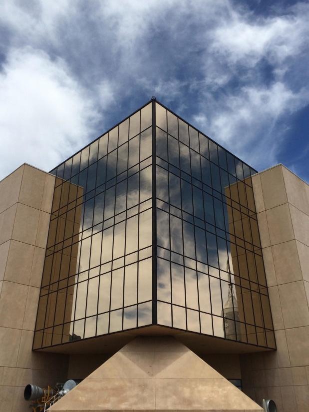 architecture, contemporary, futuristic, sky, city, reflection, concrete
