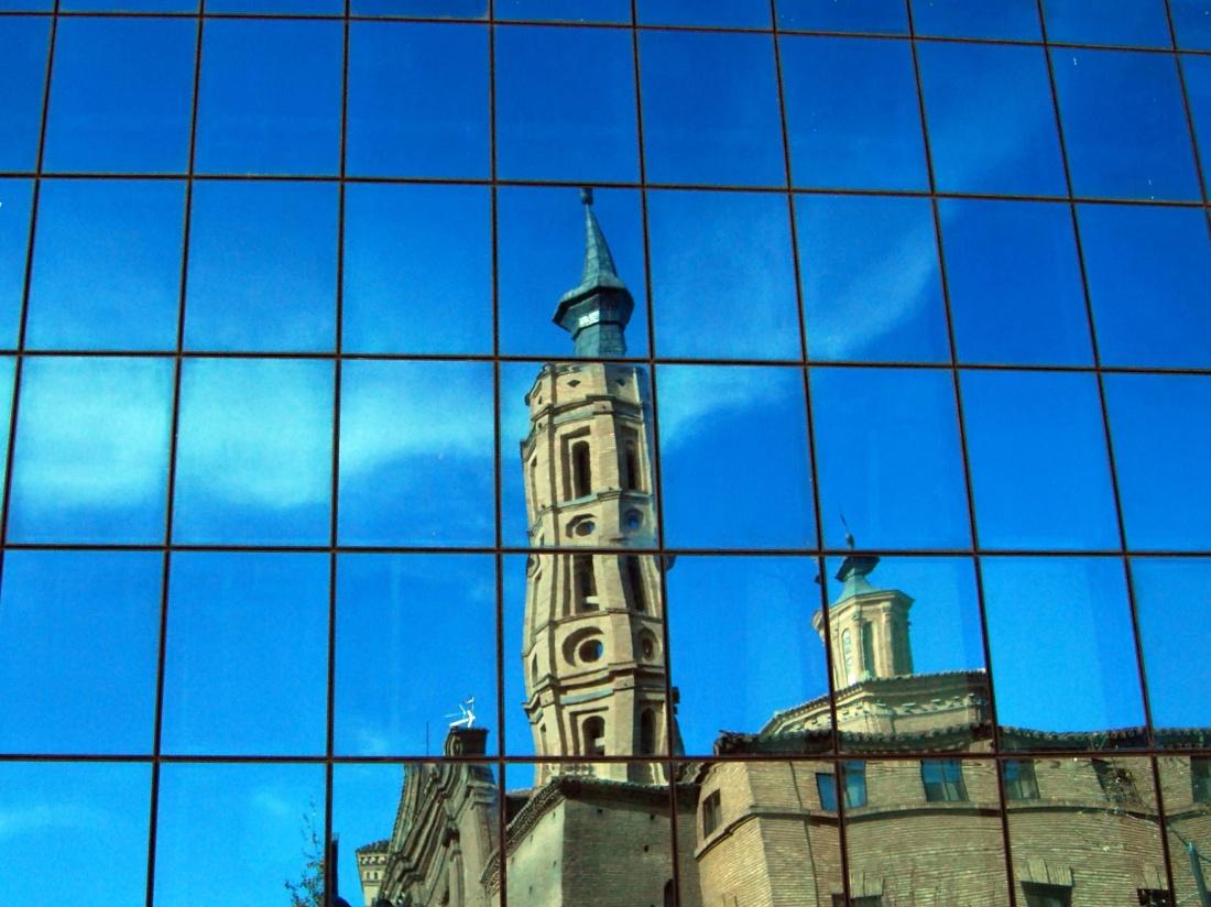 architecture, sky, reflection, modern, glass, urban, window, downtown