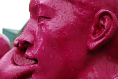 heykel, heykel, boya, ıslak sanat, yağmur,