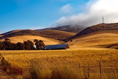 τοπίο, ουρανός, highland, αμμόλοφος, βουνό, λόφος, καλοκαίρι