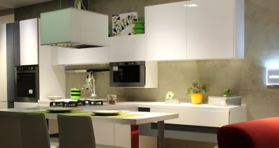 kitchen, contemporary, indoors, furniture, room, apartment, table, interior