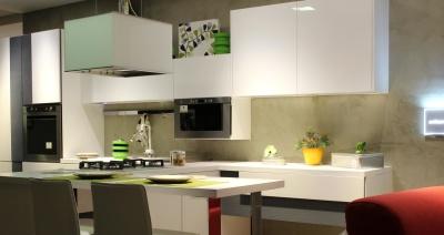 кухня, съвременен, закрито, мебели, стая, апартамент, таблица, интериор