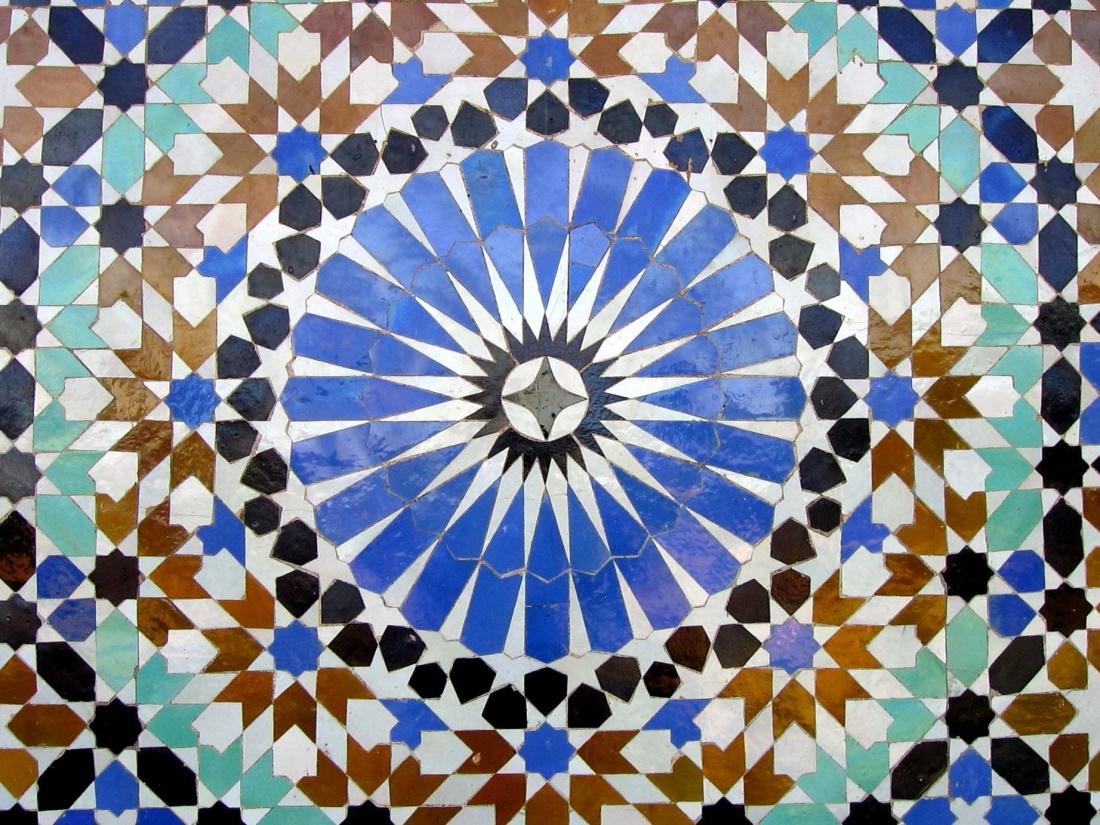 mosaïque, modèle, art, abstrait, papier peint, texture, arabesque, conception