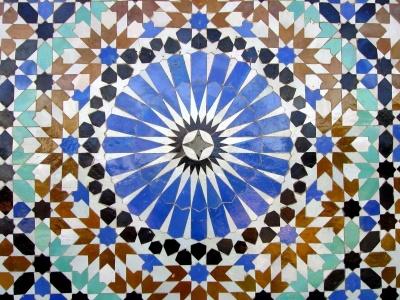 Mosaico, modello, arte, astratto, carta da parati, texture, arabesque, design