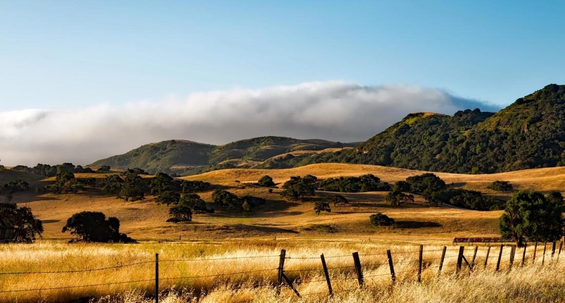 landscape, nature, sunset, sky, mountain, mountains, highland