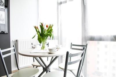 chambre, à l'intérieur, table, contemporain, mobilier, à l'intérieur, fenêtre, chaise
